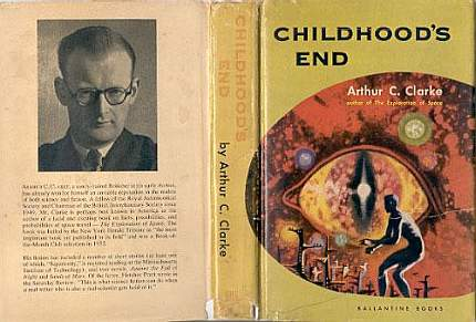 Childhood's End by Arthur C. Clarke original book cover Ballantine Books
