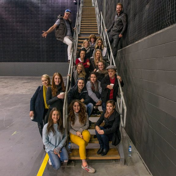 FWAW cast inside studio