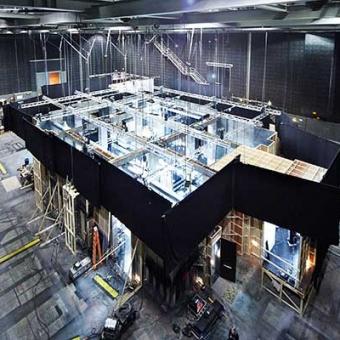 Film set inside Docklands Studios