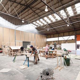 Film set workshop at Docklands Studios