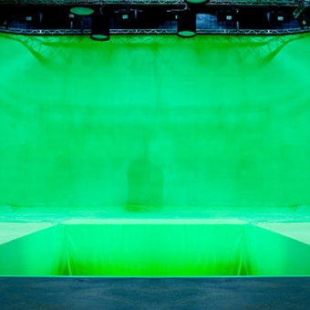 Green screen stage at Docklands Studios