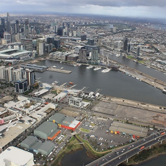 View of Melbourne from the sky