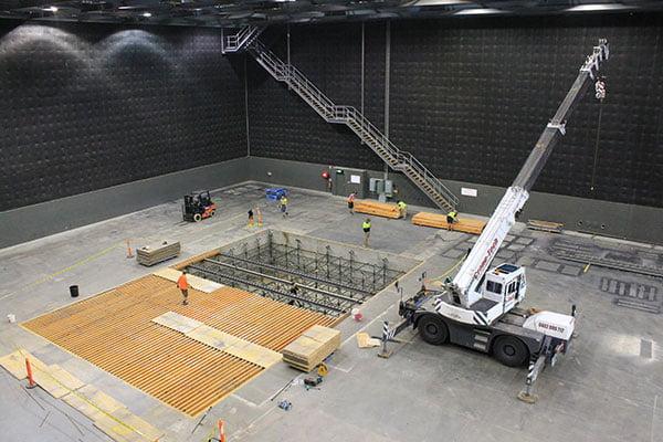 Movie set construction in Melbourne