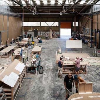 Movie set workshop at Docklands Studios