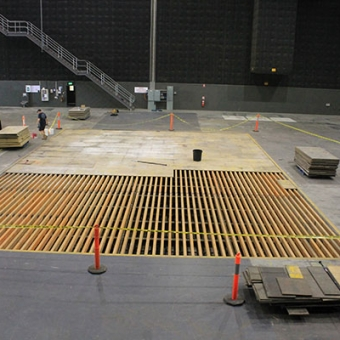 Sound stage construction at Docklands Studios