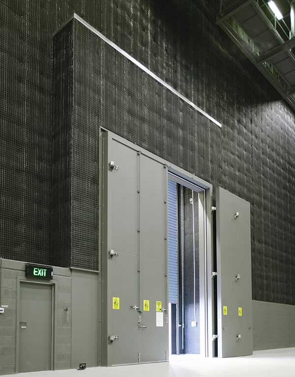 Stage door at Docklands Studios