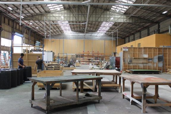 Docklands Studios Melbourne large workshop