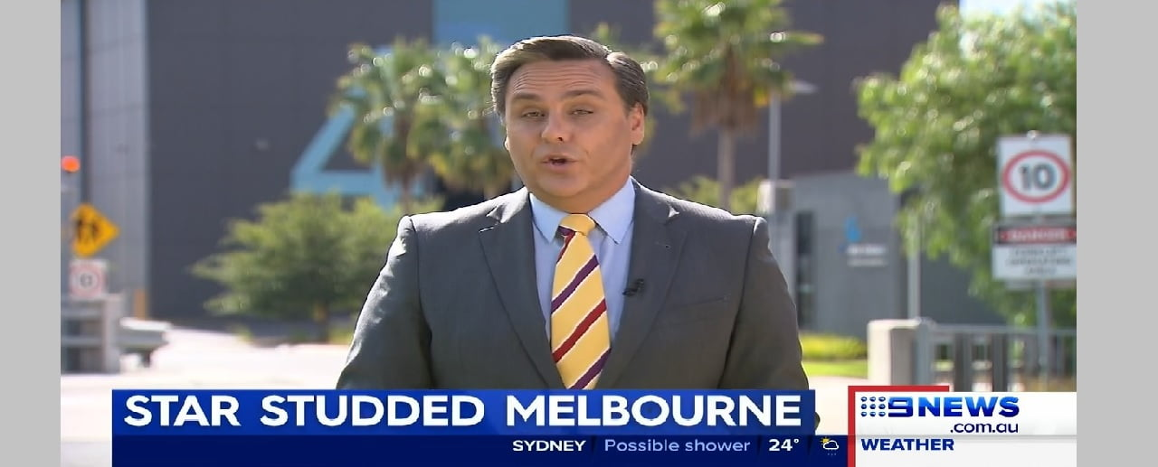 Docklands Studios on Nine Network News